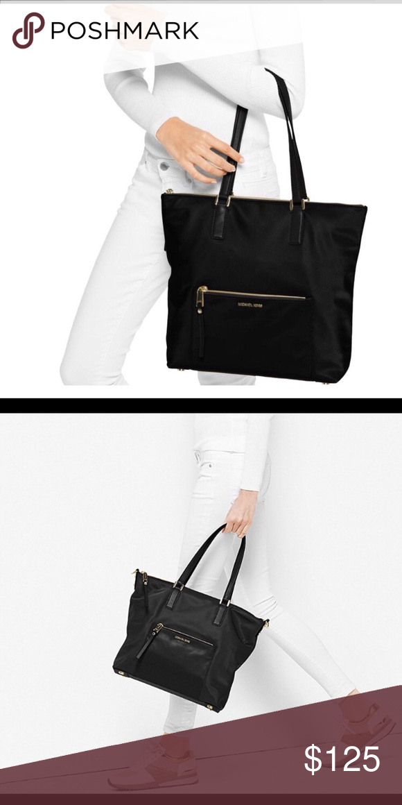 93d465b09c27 NWT MK Ariana tote Brand new with tags. Black nylon with gold hardware. Michael  Kors Bags Totes