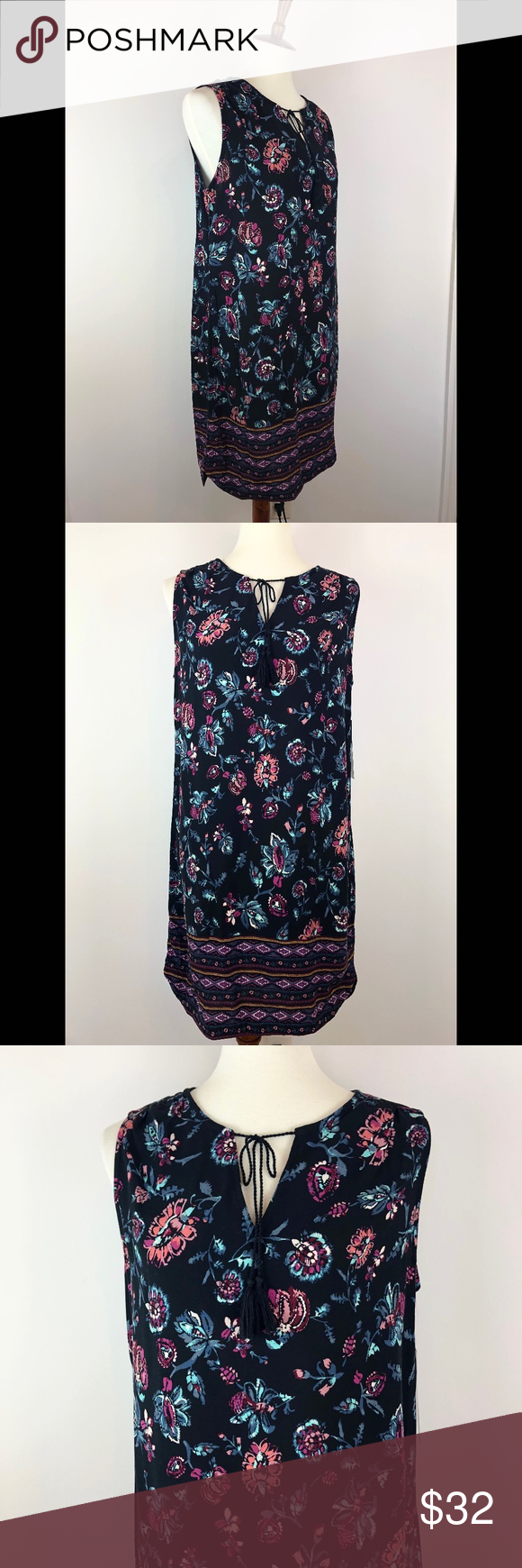 720e672ba7 NWT beachlunchlounge Kayla Tassel Shift Dress Brand new with tags!  Sleeveless shift dress with tassels