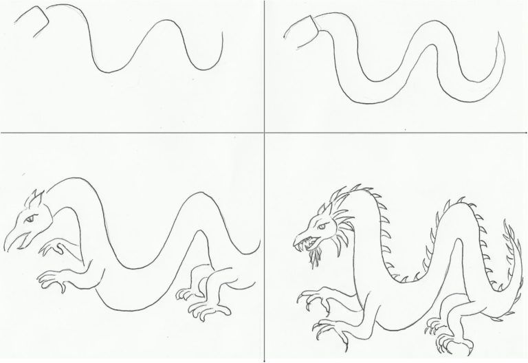 How To Draw A Dragon Step By Step How To Draw Dragons