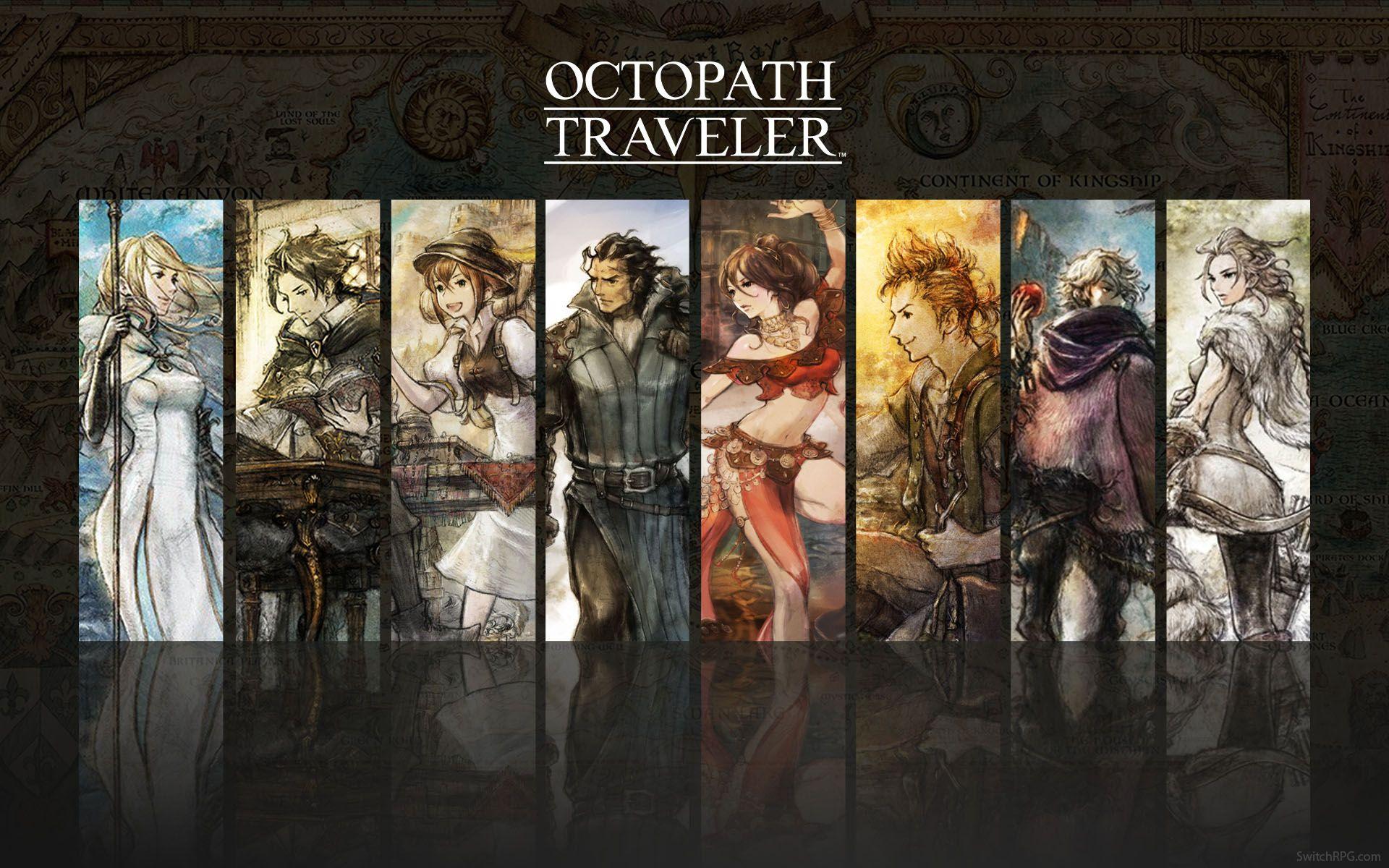 Octopath Traveler Group Wallpaper Octopath Traveler Travel Album Travel Aesthetic