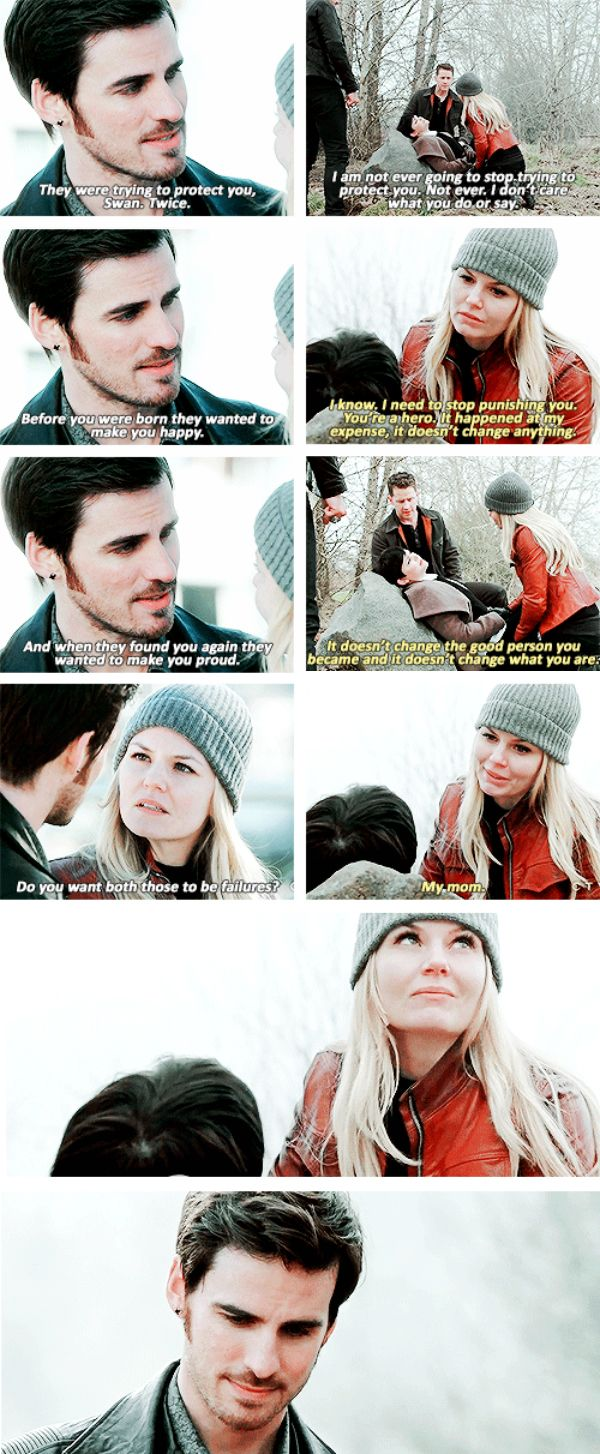 """Emma and Hook & Emma and Mary Margaret - 4 *20 """"Mother"""" #CaptainSwan EVEN THEM LOOKING AT EACH OTHER IS JUST"""