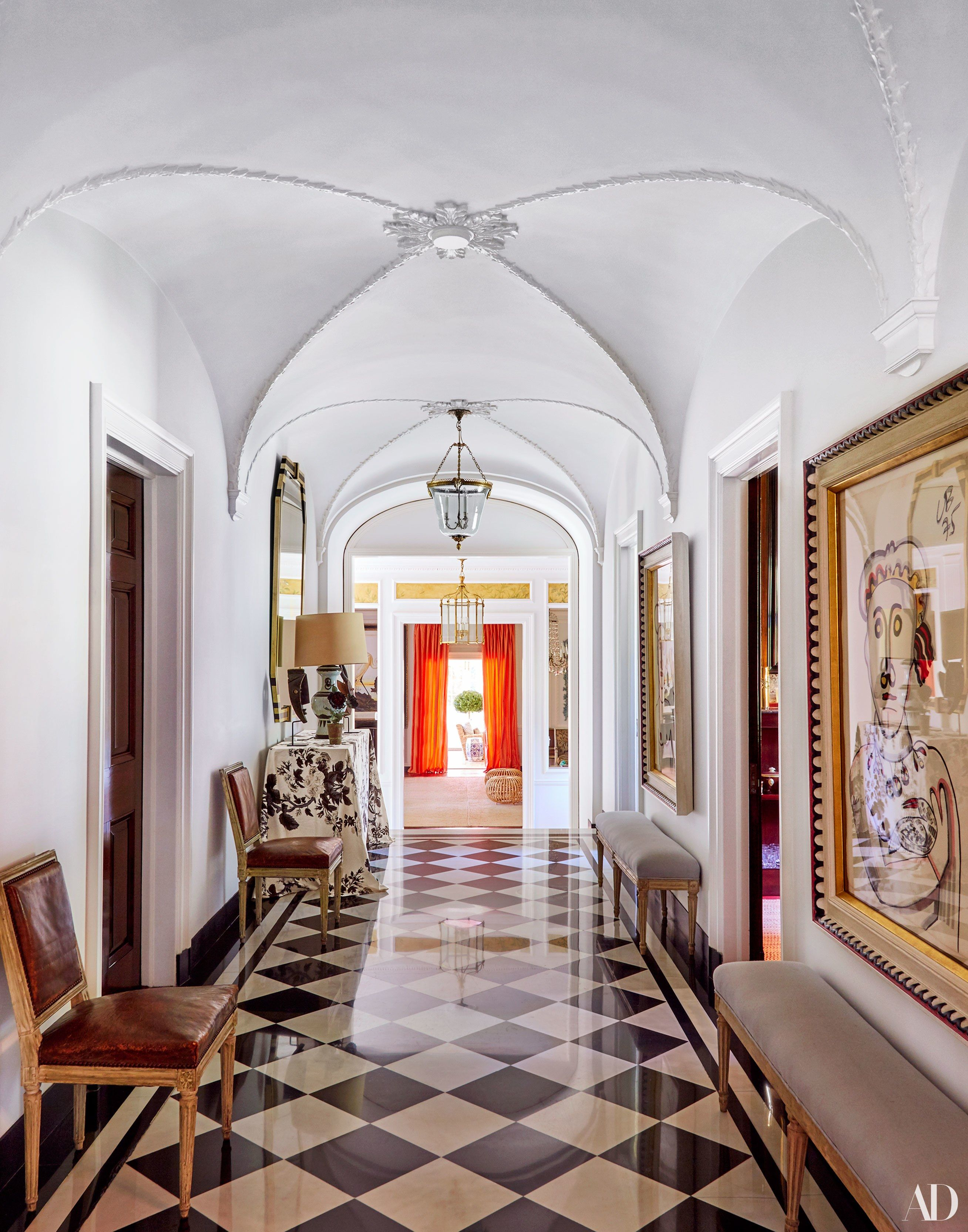 From The Moldings To Black And White Floor Original Architectural Details Are Front Center In Westerlys Ground Hallway