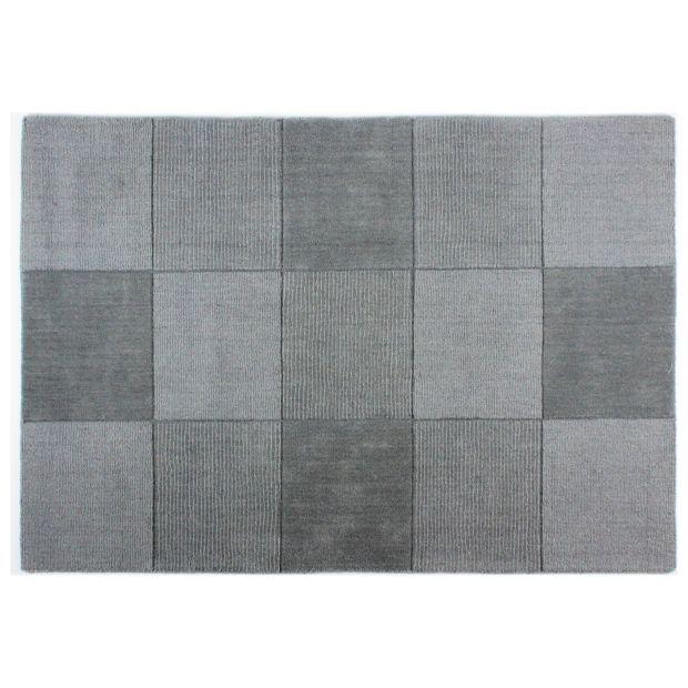 Lisle Blocks Rug 110x160cm Light Grey At Argos Co Uk