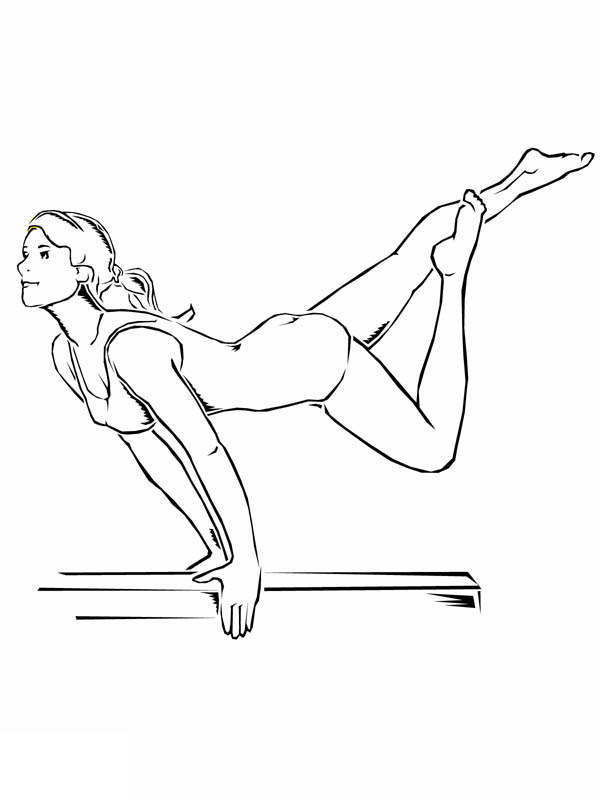 Awesome Balance Beam Artistic Gymnastic Coloring Page Download Print Online Coloring Pages For Fr In 2020 Sports Coloring Pages Coloring Pages Dance Coloring Pages