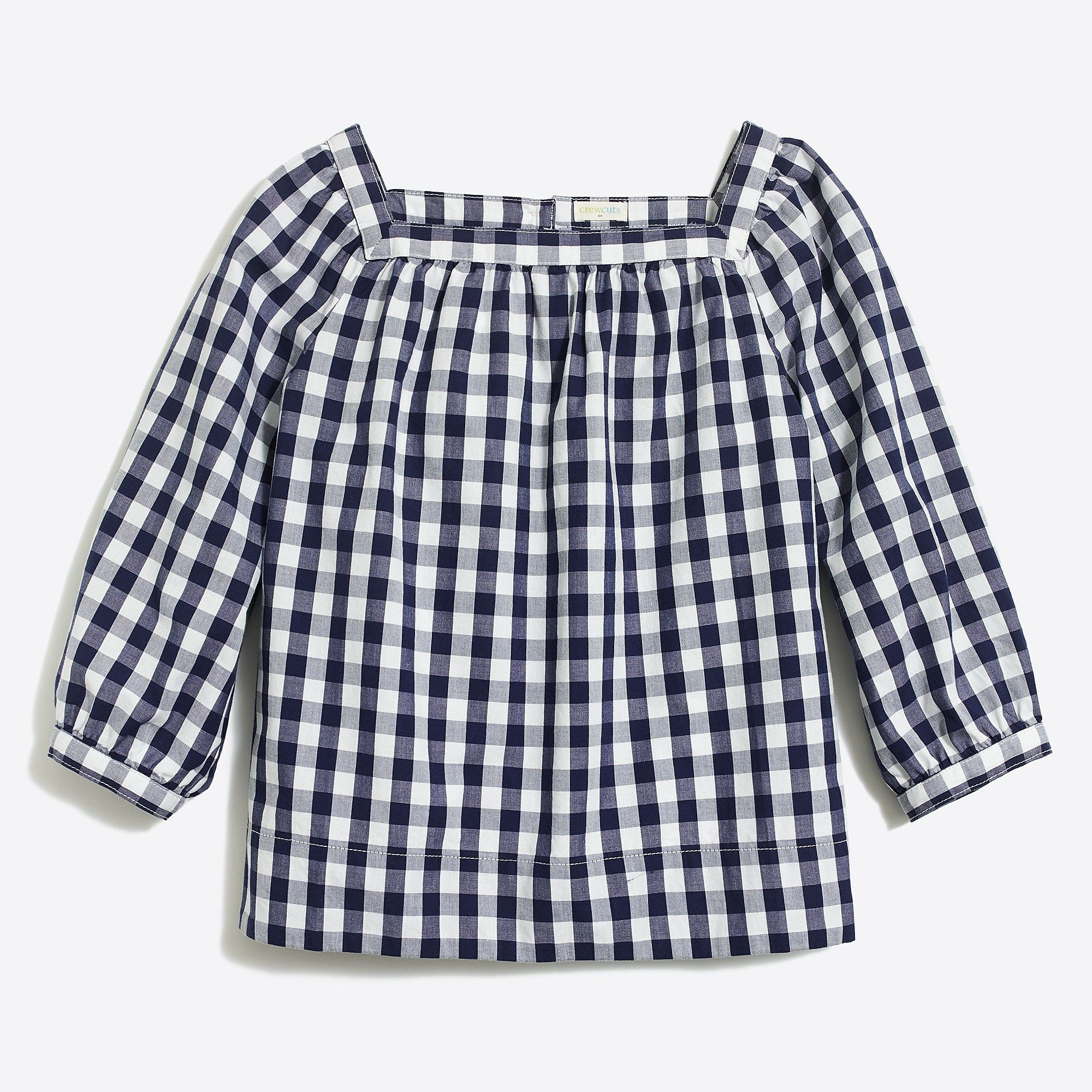 954dd371c8a J.Crew Factory: Girls' gingham peasant top in 2019 | Outfits-Girls ...