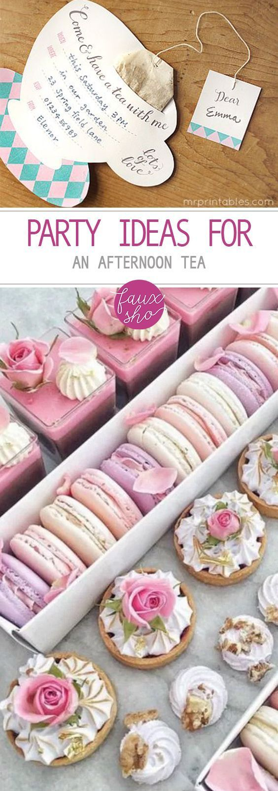 Party Ideas for an Afternoon Tea - | Party DIY | Pinterest | High ...