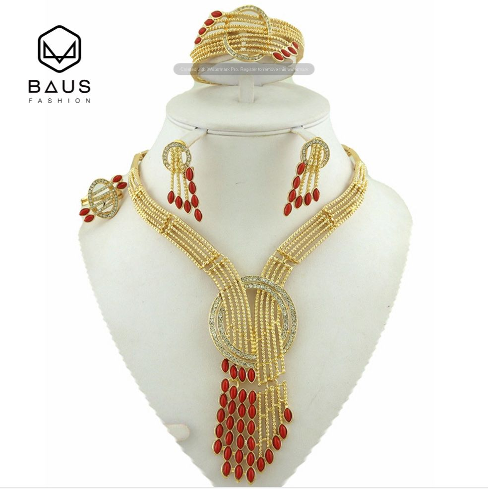 Eritrea Dubai indian gold jewelry Set Ethiopian gold plated Nigerian