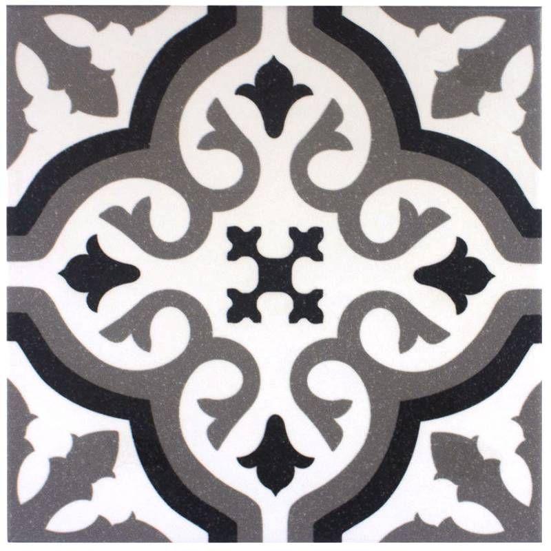 Carrelage Imitation Carreau Ciment Sol Et Mur Blanc 20 X 20 Cm