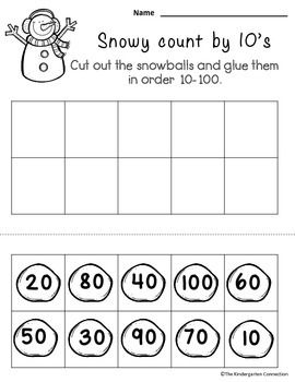 Freebie! Kindergarten math and literacy - 4 pages from January Print ...