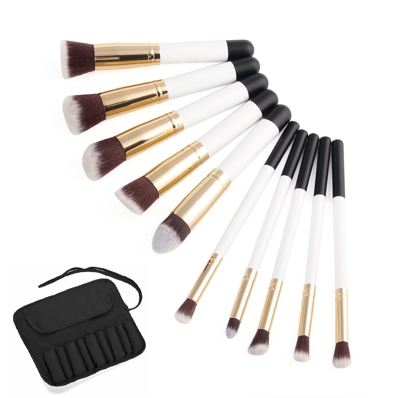 Makeup Brushes Set 10pcs, EROKAY Professional Foundation