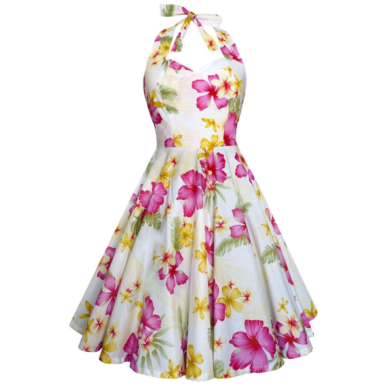 beach dress tiki dress tropical dress hibiscus floral
