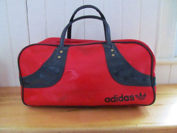 Vintage 70s 80s Adidas Free Spirit Duffle Bag By Gifttotheworld