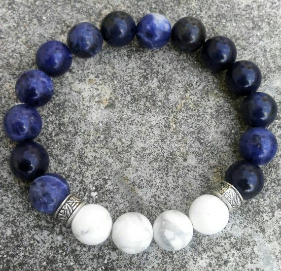Silver Colour Round Beads With Tube Beads Stretchable Bracelet