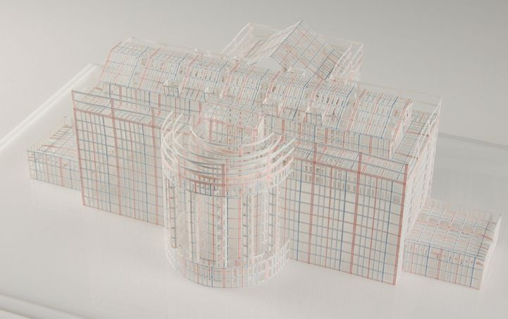 Extraordinarily Intricate 3D Paper Building Sculptures by Jill Sylvia