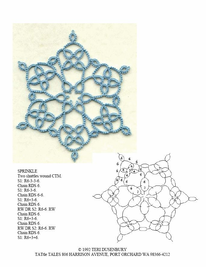 blue tatted snowflake | 811 best Poor Man\'s Lace images on Pinterest ...