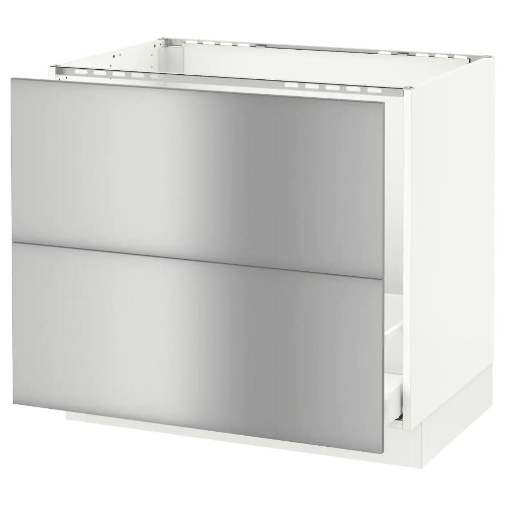 Sektion Maximera Base Cabinet F Sink Recycling White Varsta Stainless Steel 30x24x30 Ikea Metal Storage Cabinets Base Cabinets Ikea