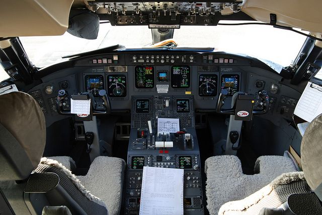 Everyone's Private Jet. Book Now! www.flightpooling.com Cockpit or flightdeck of an Air... #emptyleg #flight #cockpit #Airplane #Aircraft