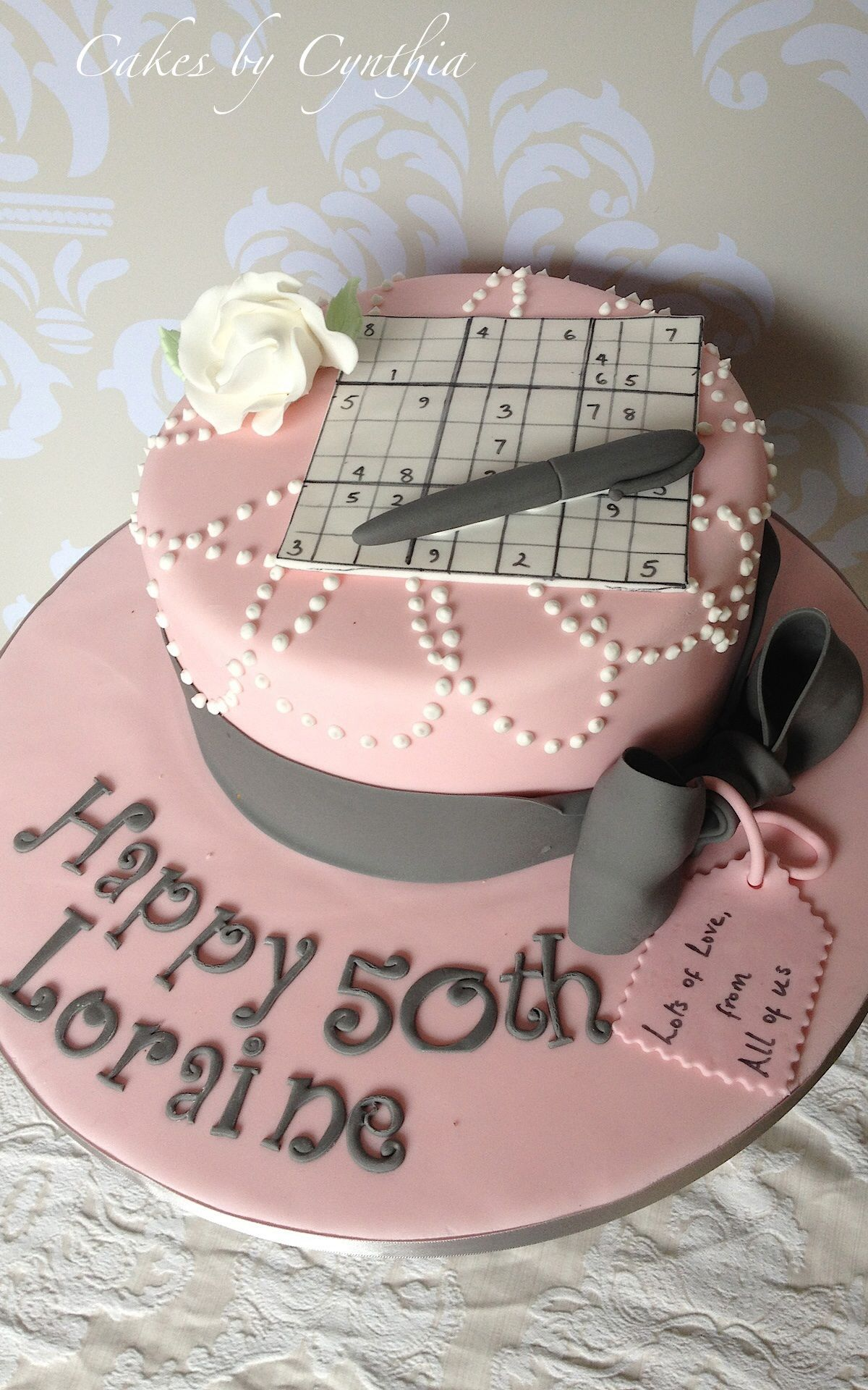 50th birthday cake Inspired by sudoku Wedding cakes London