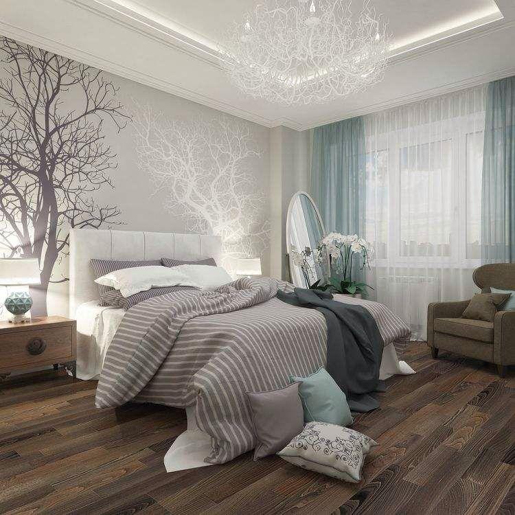 Chambre épuré ton bleu ciel blanc et bois | main bedroom ideas ...