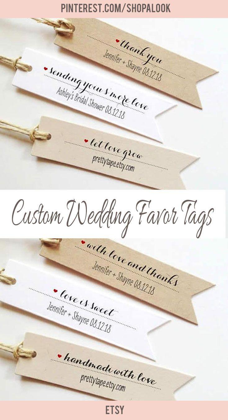 Cute custom wedding favor tags #afflink #weddingfavor #weddingideas ...