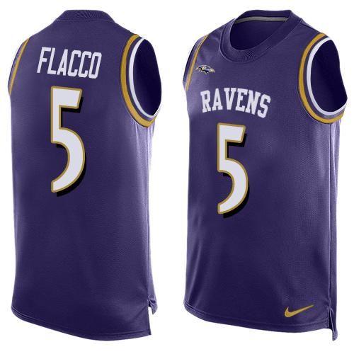 Nike Ravens #5 Joe Flacco Purple Team Color Men's Stitched NFL  for sale