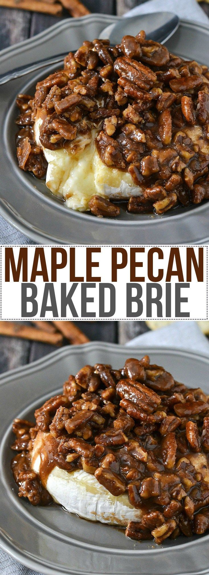 Maple Pecan Baked Brie - Mother Thyme