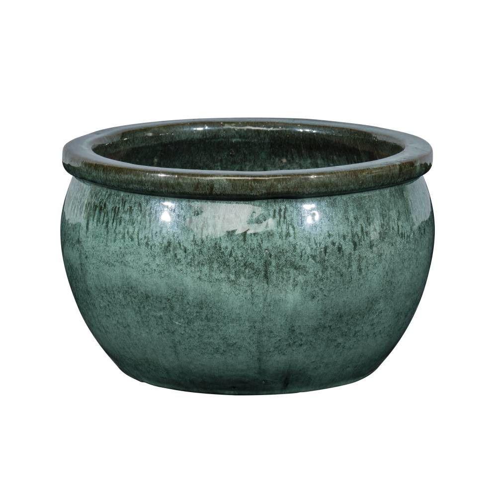 Pot Bavaria en grès émaillé, misty vert Ø 45 x H. 26 cm ...