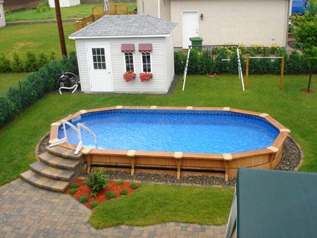 Above Ground Wood Pool Backyard Pool Pool Patio Swimming Pool