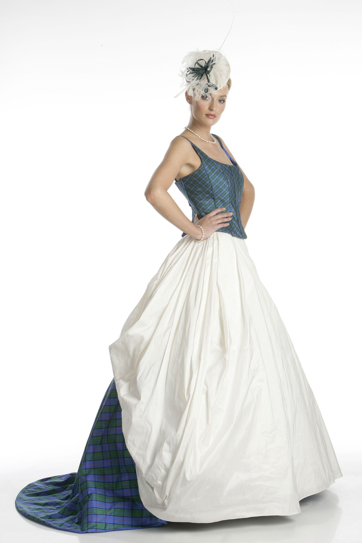 Scottish tartan wedding dress  Tartan Wedding Dresses  Lochdoon Wedding Dress  Joyce Young By