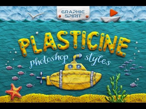 SAVE $89, buy it in the BUNDLE Decorative cartoon plasticine style for Photoshop complemented by actions. It contains realistic textures of clay, volume effects and action. Bonus - speak