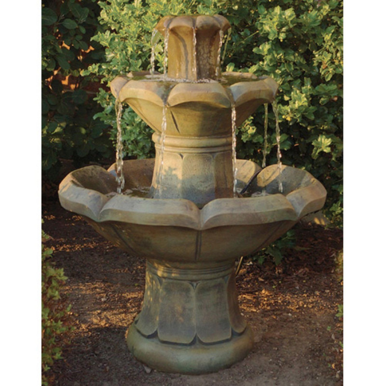 Henri Studio Montreux 2 Tier Outdoor Floor Fountain Trevia