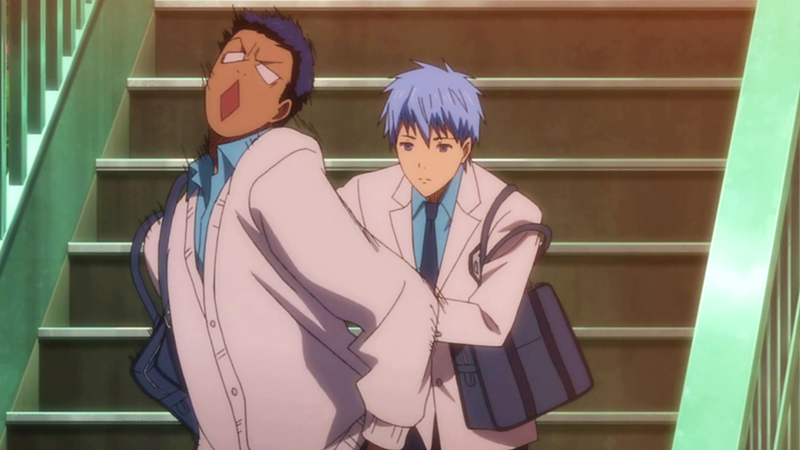 And this is the amazing moment when Kuroko shoves a