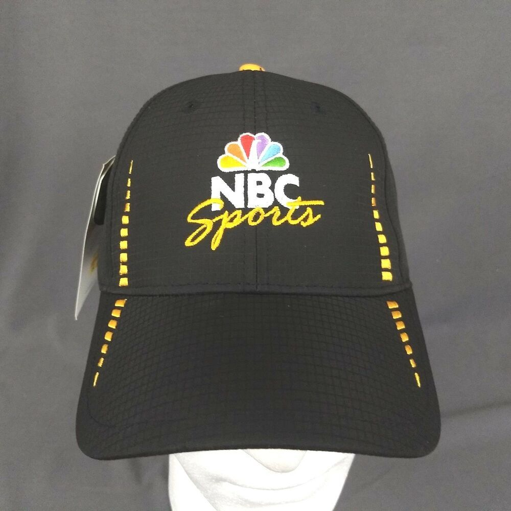 NBC Sports Peacock Logo Black & Gold Baseball Hat