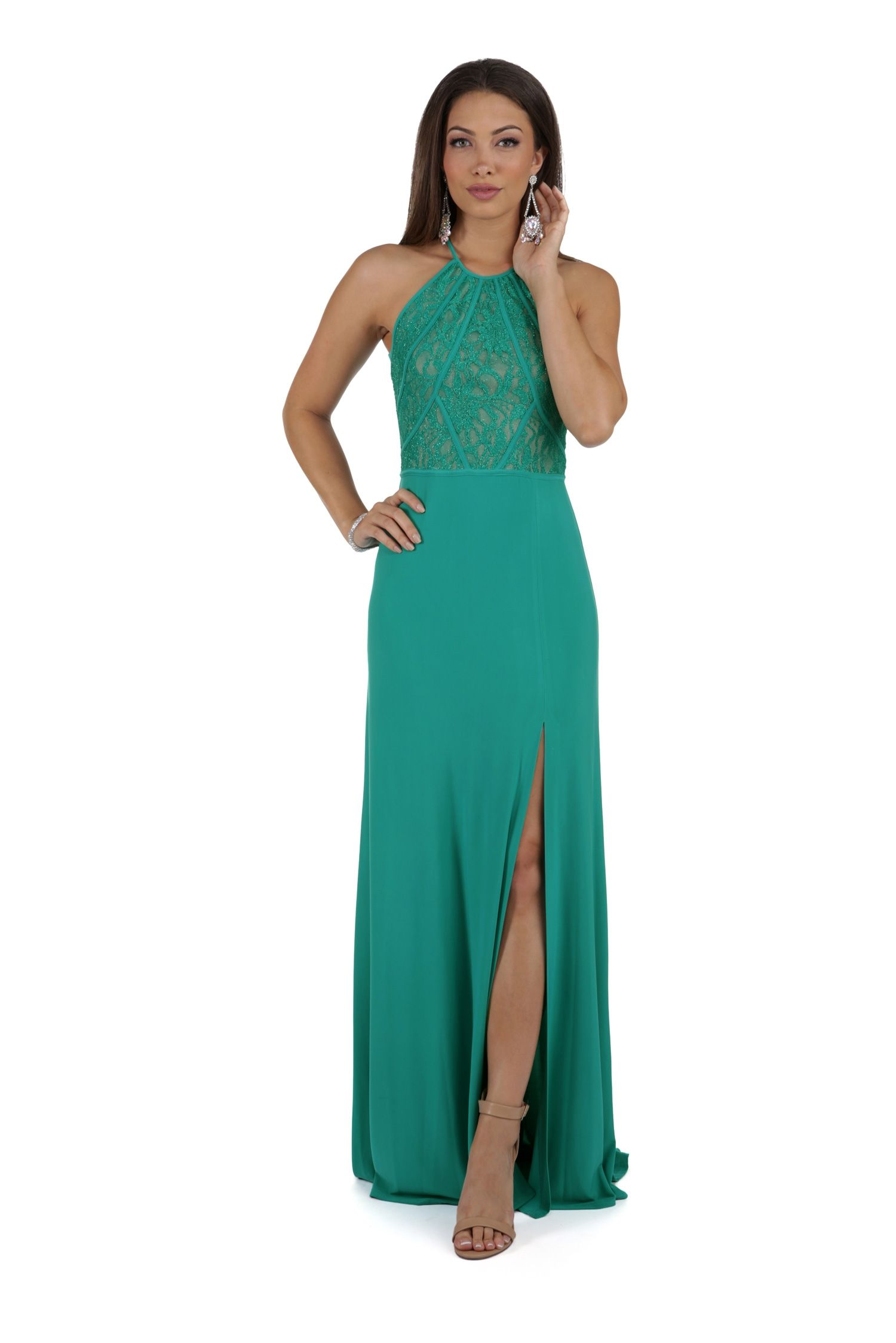 Jade Green Glitter Prom Dress | windsor | Dresses and formals ...