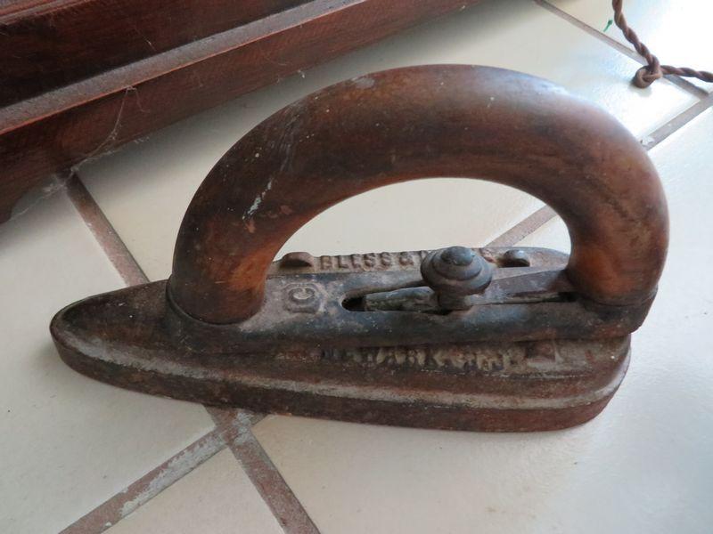 Antique iron marked Bless and Drake Newark N.J.