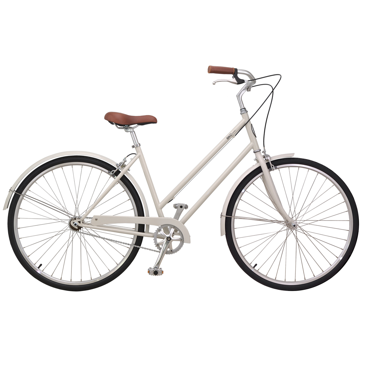 Brooklyn Bicycle Co Ivory Franklin Seven Speed Dutch Step