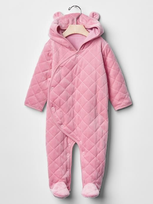 e8071aca76ac Quilted velour footed one-piece