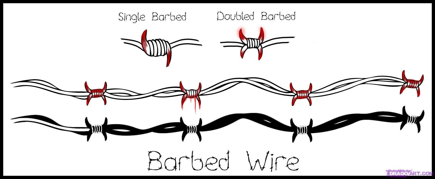 How to Draw Barbed Wire, Step by Step, Tattoos, Pop Culture ... How To Draw Wire on how to draw feathers, how to draw yarn, how to draw hammer, how to draw ladder,