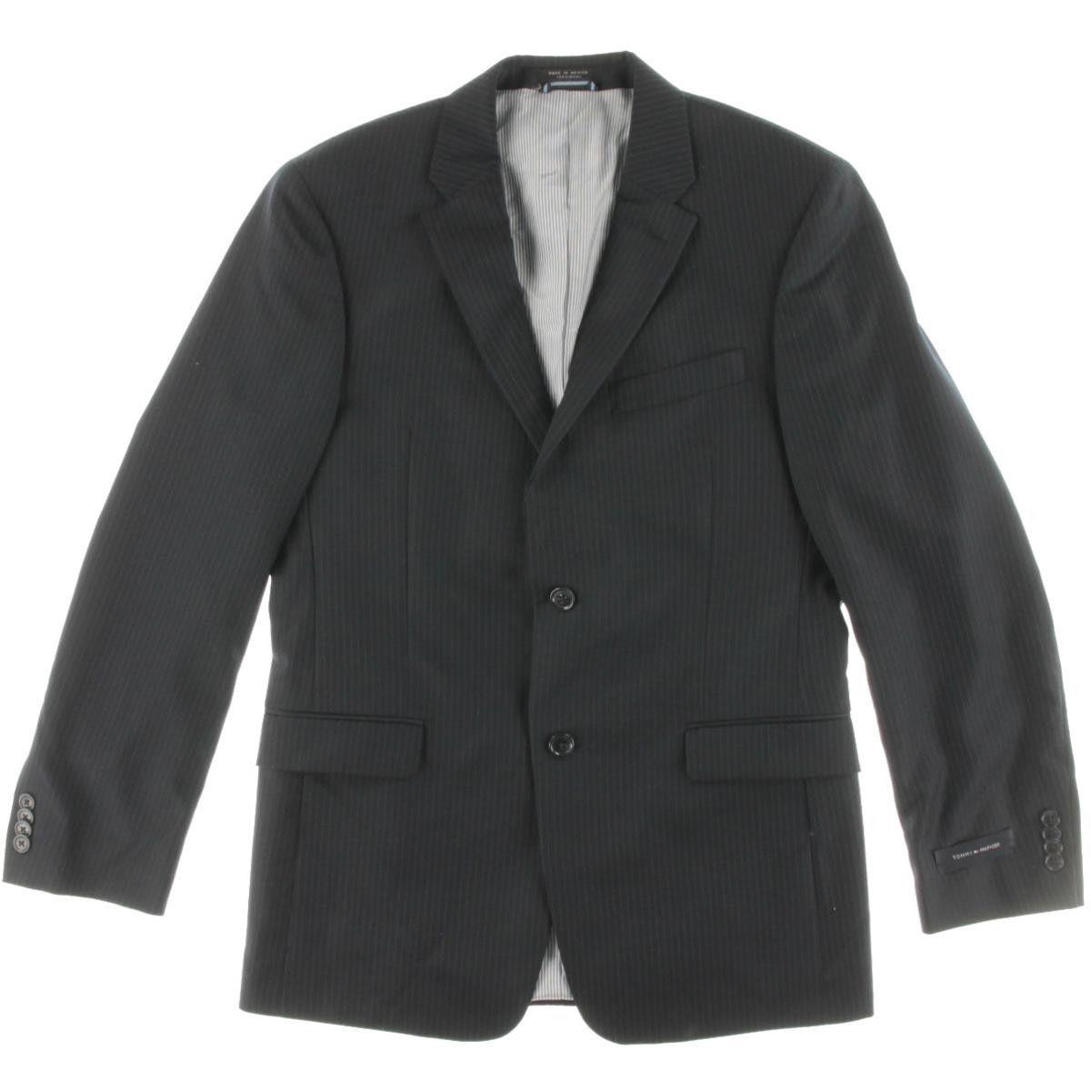 Tommy Hilfiger Mens Wool Trim Fit Two-Button Blazer
