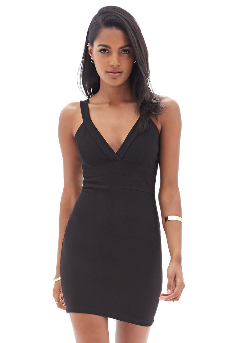 V Neck Bodycon Dress Ootn Dresses Bodycon Dress
