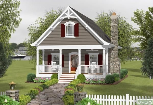 House Plan 036 00174 Cottage Plan 1 148 Square Feet 1 Bedroom 1 5 Bathrooms In 2021 Small Cottage House Plans Small Cottage Homes Tiny Cottage Design