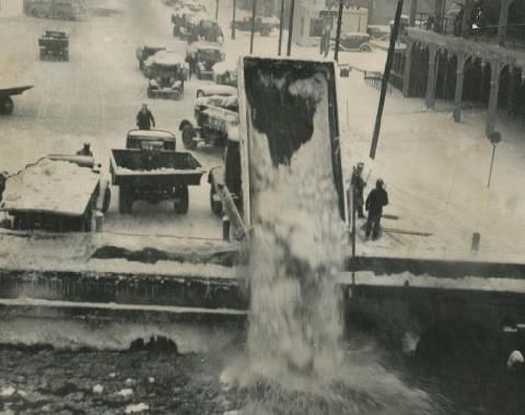 snow removal Detroit 1939