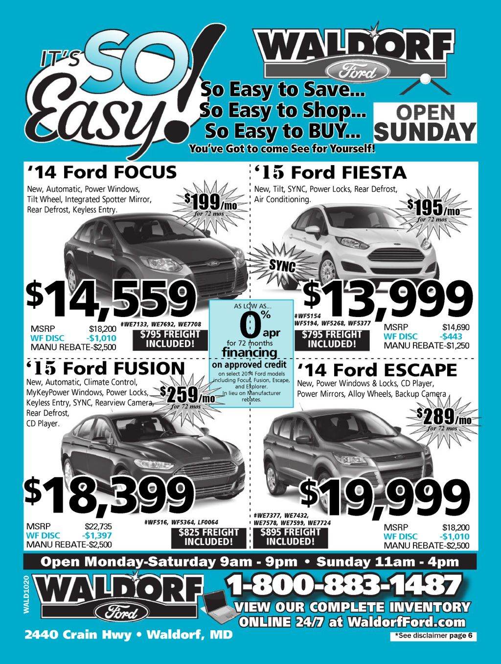 #Catalog #Ford #New #Car #Truck #SUV call 301-843-2400 or
