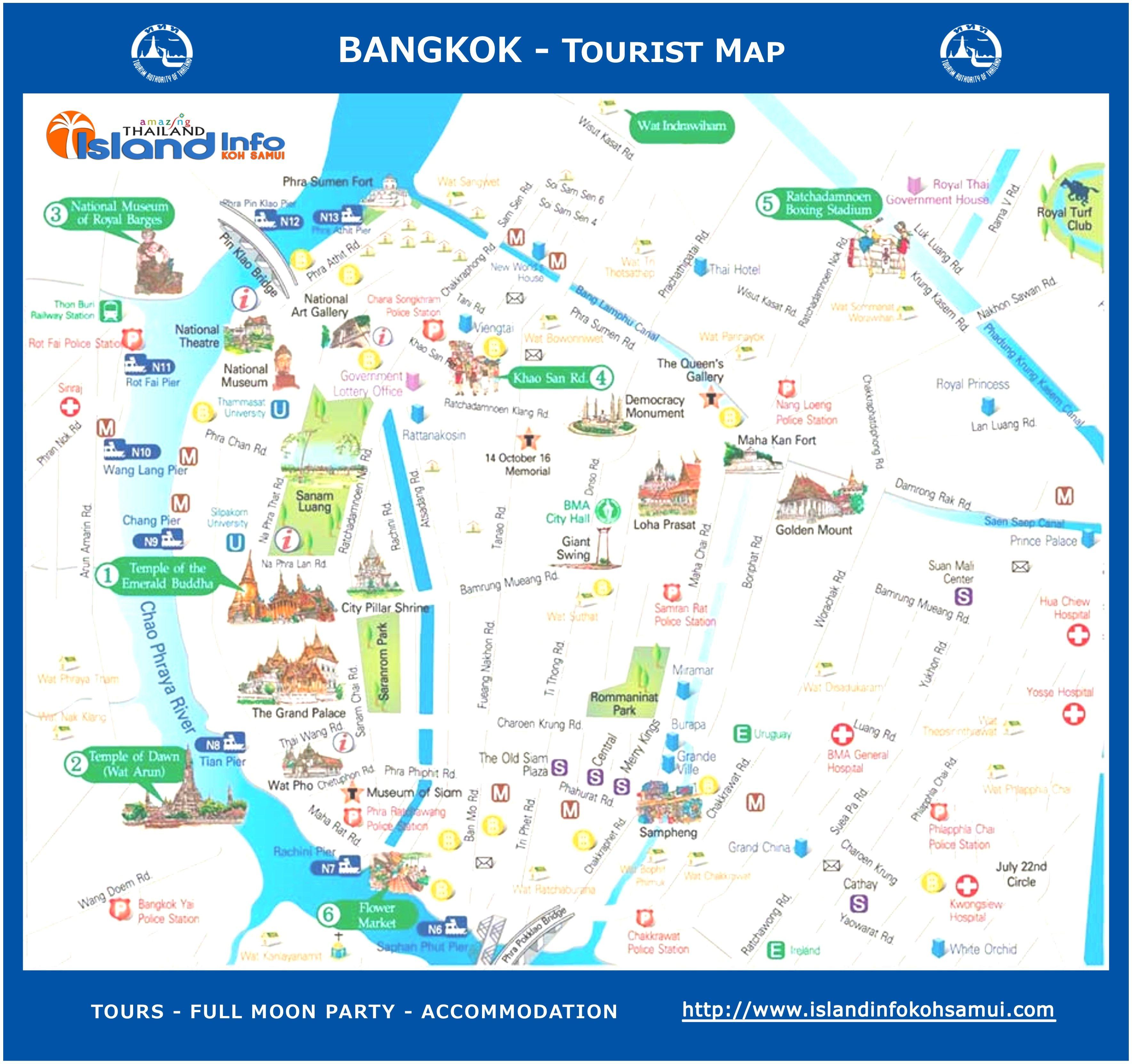Pin by Edwin on Travel Pinterest Bangkok tourist map Tourist