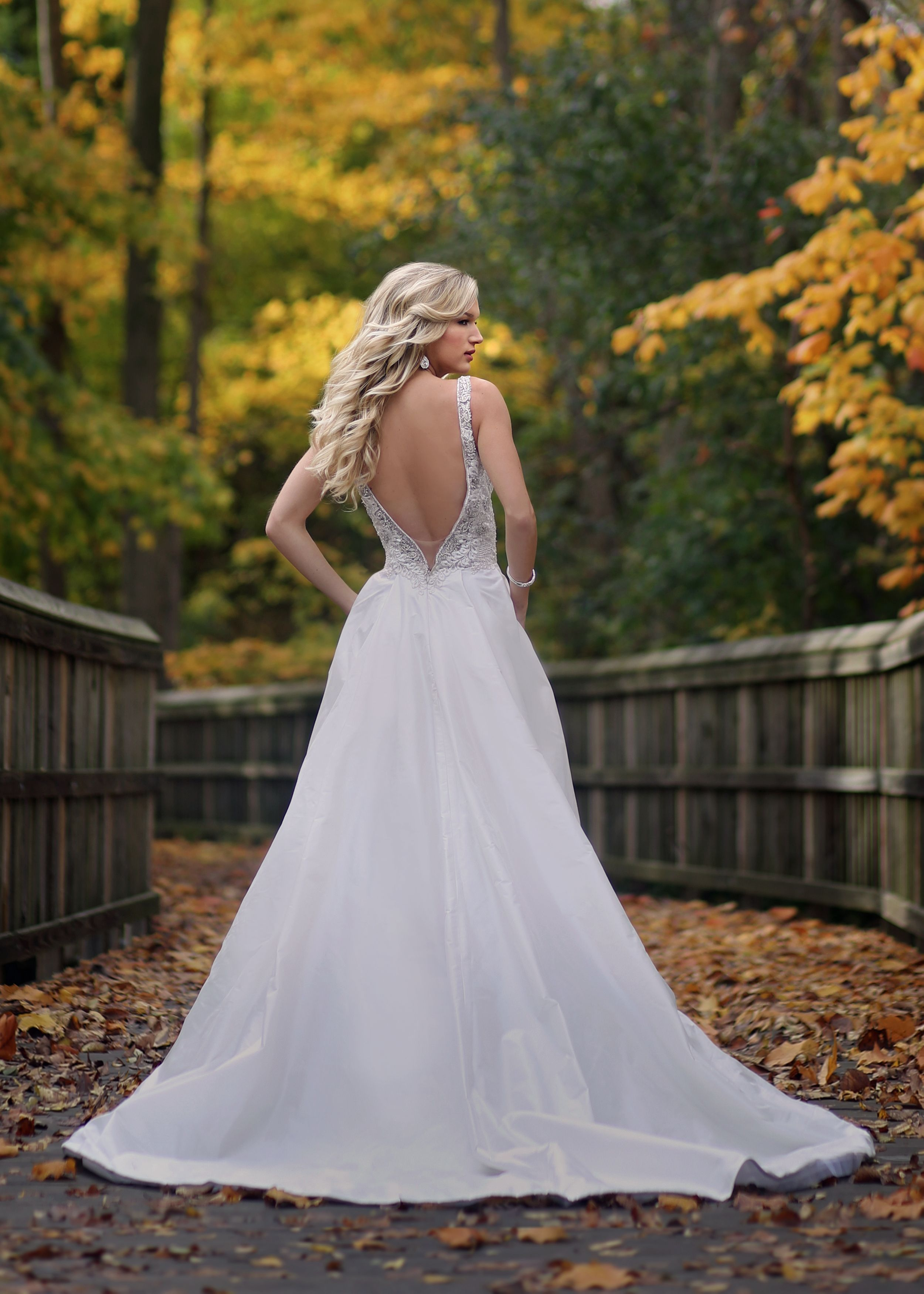 Open back ballgown lace wedding dresses from Solutions Bridal in ...