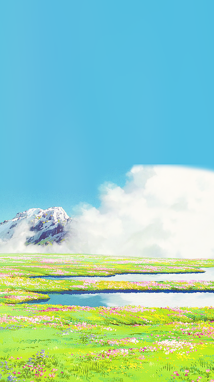 Just Put Your Hand In Mine Ghibli Flowers Anime Scenery