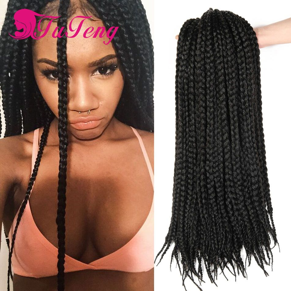 Box braids hair extensions crochet box braids styles havana senegalese twist synthetic dreads - Crochet braids avec xpression ...