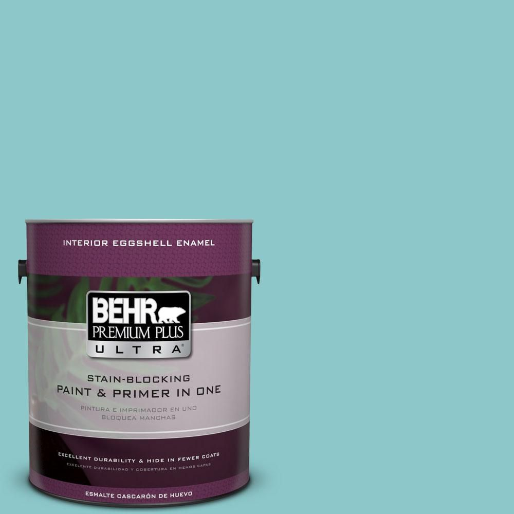 Behr Ultra 1 Gal 510d 4 Embellished Blue Eggshell Enamel Interior Paint And Primer In One 275401 Interior Paint Exterior Paint Behr