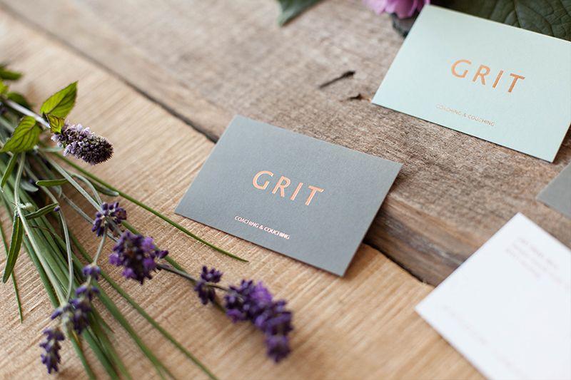 Visitenkarten Mit Heißfolienprägung In Kupfer Grit