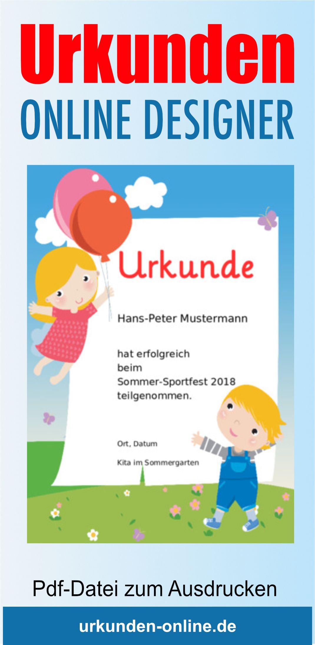 Kinder Urkunden Online Gestalten Und Drucken Urkunden Selbst Gestalten Urkunden Zum Ausdrucken Urkunde